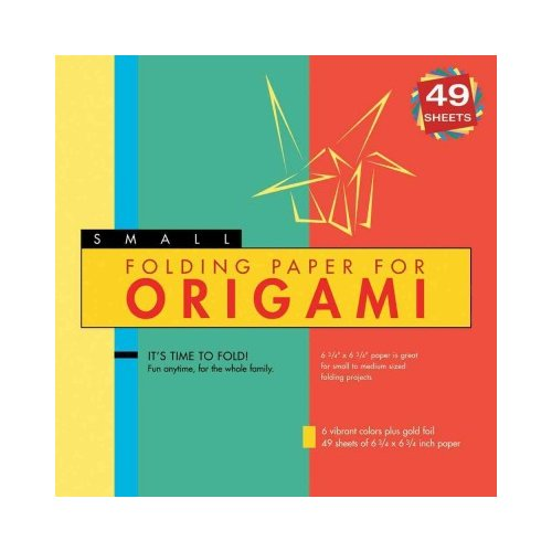 "Folding Paper for Origami - Small 6 3/4"" - 49 Sheets: (Tuttle Origami Paper)"