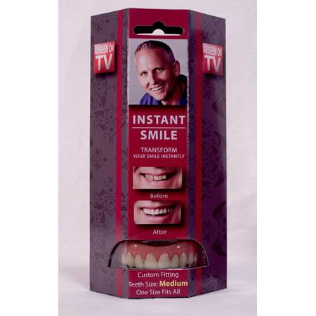 Instant Smile Deluxe Teeth MEDIUM Top Veneers Fake Cosmetic Impression Material