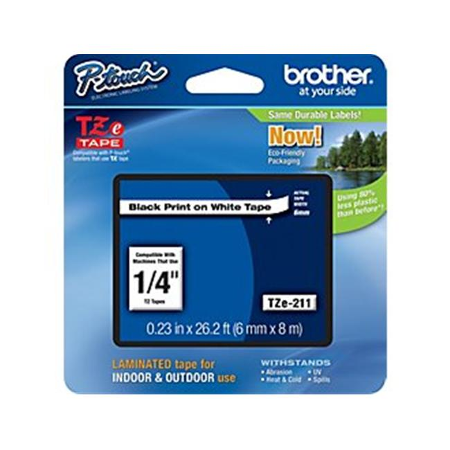 BROTHER INTERNATIONAL CORPORAT TZE-211 LABEL . 25 BK-WHT
