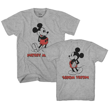 Mickey Mouse Back Front Vintage Classic Disneyland World Men's Adult Graphic
