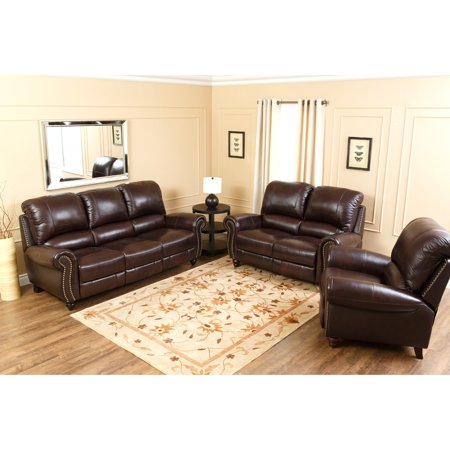 Devon & Claire Ledford Burgundy Leather Reclining Sofa Set