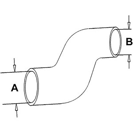 65430C1 New Lower Radiator Hose Made to fit Case-IH