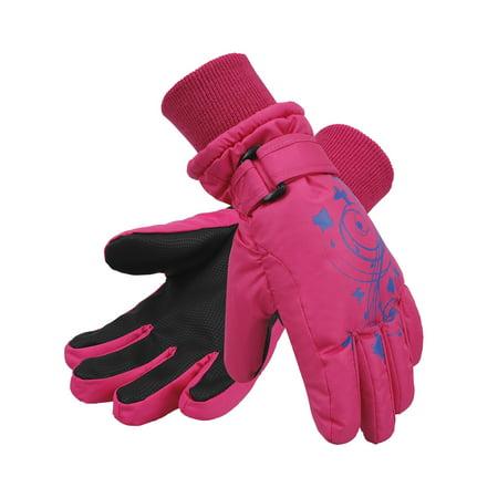 Girl's Waterproof 3M Thinsulate Winter Ski & Snowboard Gloves, Butterfly (Best Spyder Ski Gloves)