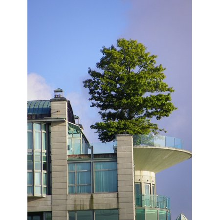 Canvas Print Vancouver Architecture Roof Tree Building Balcony Stretched Canvas 10 x 14 ()