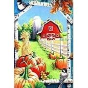 Pumpkins Barn Fall / Autumn Decorative House Flag