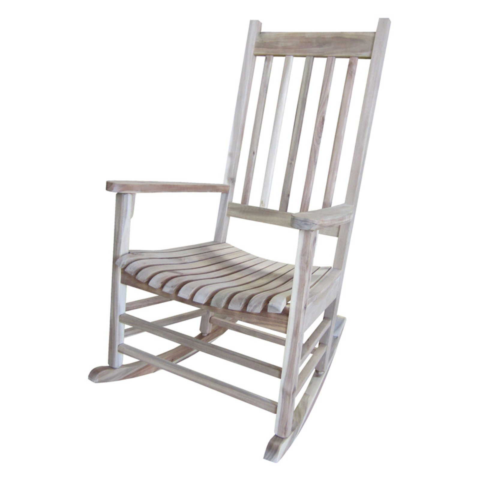 International Concepts Porch Rocker, Solid Wood, Unfinished