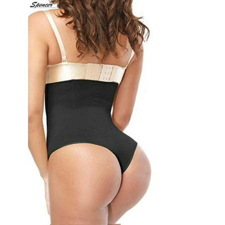 Spencer Women's Thong Shapewear High Waist Cincher Body Shaper Tummy Control Panties Slimming Briefs (Best Control Body Shapewear)