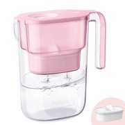 Waterdrop 5-Cup Water Filter Pitcher with 1 Filter, Long-Lasting (200 gallons), 5X Times Lifetime Filtration Jug, Reduces Lead, Fluoride, Chlorine and More, BPA Free, Pink, Model: WD-PT-05P