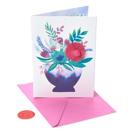 American Greetings Premier So Grateful Floral Mother's Day Card with (Glitter Greeting Cards)