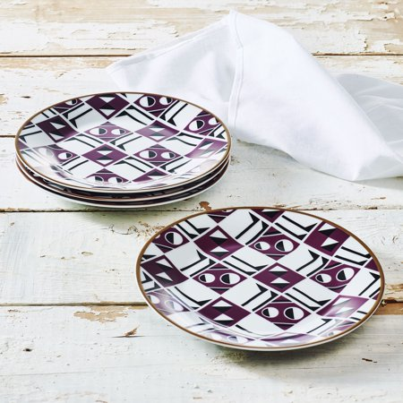 Porcelain Perforated Plate (Retro Geometric Collection 7.5