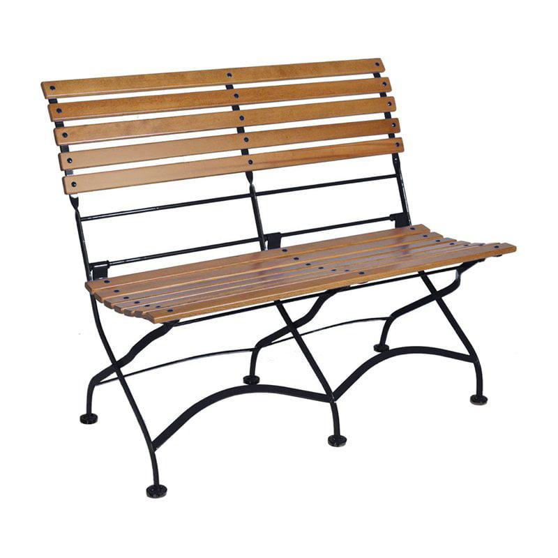 Furniture Designhouse Grand Cafe Folding Armless Park Bench by Loom Britannia Ltd