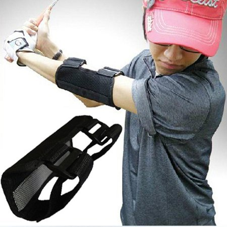 Anauto Golf Swing Training Aids Straight Practice Elbow Brace SwingTrainer Alarm Corrector, Golf Elbow SwingTrainer, Swing straight