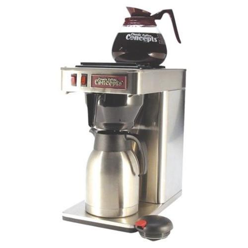 Classic Concepts GBT60 Stainless Steel 12-Cup Commercial Coffee Brewer - 1 Warmer Pour-Over