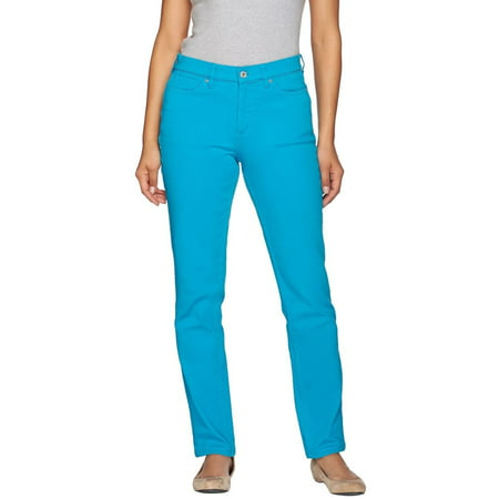 Denim & Co How Slimming Colored Straight Leg Pants -