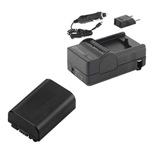 Sony FDR-AX33 Camcorder Accessory Kit includes: SDNPFV50NEW Battery, SDM-109 Charger