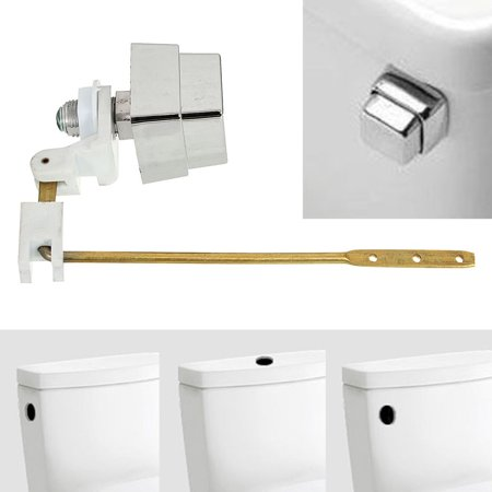 On Clearance Master Plumber Toilet Tank Lever Flush Handle Brass Arm Push Button Side Mount