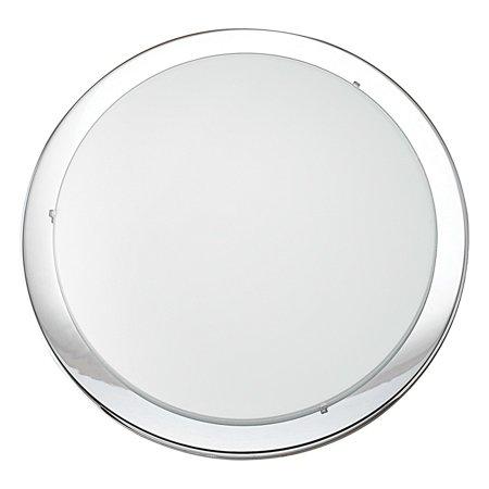 Eglo 1x100w Ceiling Light W/ Chrome Finish & Satin Glass - 82945A Satin Chrome 3 Light