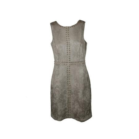 9cfeaebf Jax - Jax Grey Sleeveless Studded Faux-Suede Sheath Dress 14 - Walmart.com