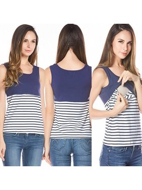 6bf2b201a9c Product Image Stripe Summer Maternity T-shirt Nursing Top Women  Breastfeeding Clothes Tee Tank
