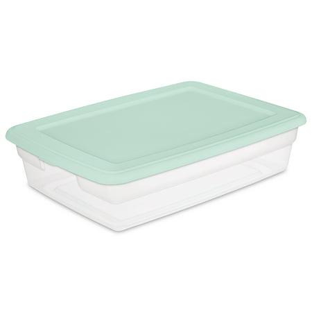 Sterilite, Set of (2) 28 Qt./26 L Storage Box, Classic Mint, Set of 8