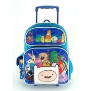 Full Size Blue Adventure Time Cast with 3D Finn Rolling Backpack, Bag Measures Aprox 16 x 12 x 5 Inches By CartoonNetwork