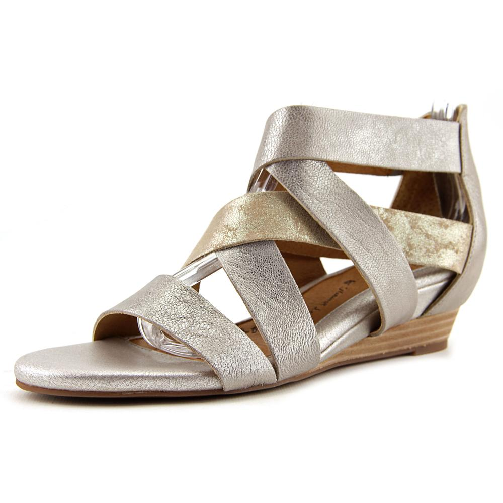 Sofft Rio Women Open Toe Leather Silver Gladiator Sandal by Sofft