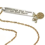 Sweet Romance  Motivational Quote 'encourage your hopes not your fears' Inspiration Necklace