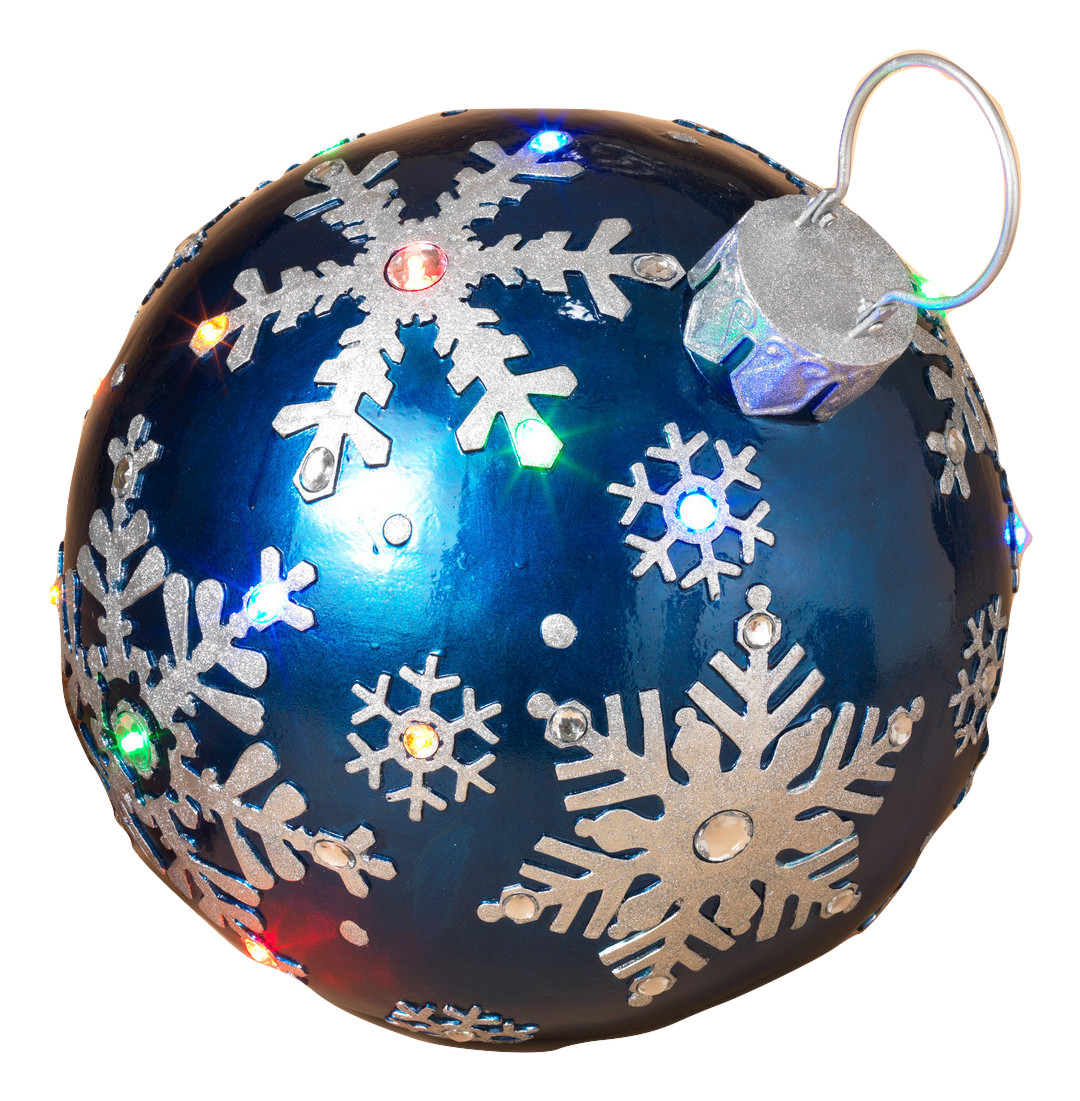 """Gerson 16.25"""" Giant Blue Silver Christmas Lights Ornament..."""