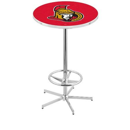 NHL Pub Table by Holland Bar Stool, Chrome Ottawa Senators, 42'' L216 by