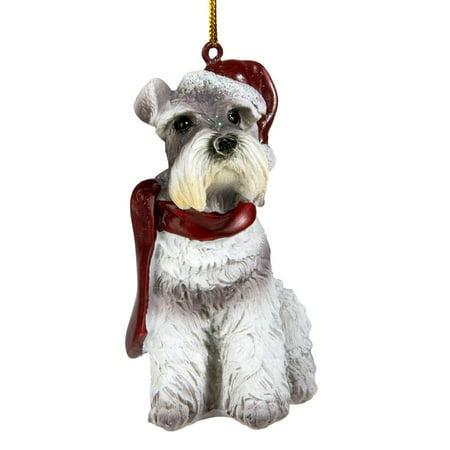 Design Toscano Mini Schnauzer Holiday Dog Ornament Sculpture ()