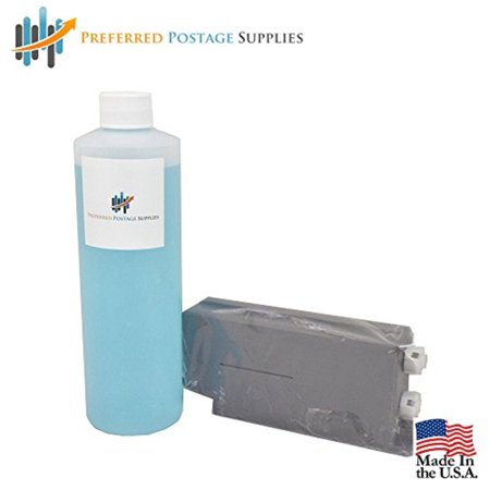 - Preferred Postage Supplies Red Ink Cartridge # 621-1 Pitney Bowes Compatiblefor DM500 / DM550 Postage Meters + One Pint (16 oz total) of Sealing Solution DM Series Mailing Systems