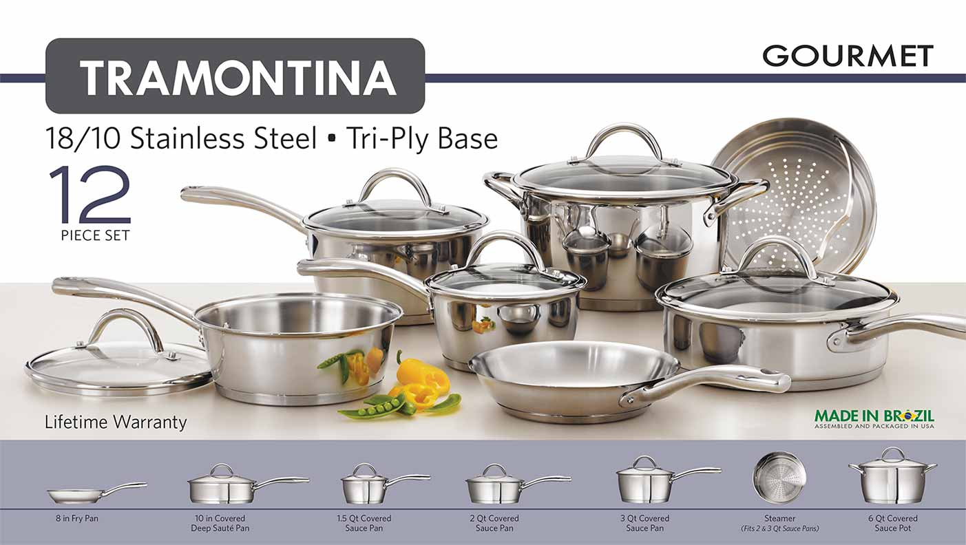 Tri Ply Base Cookware Set