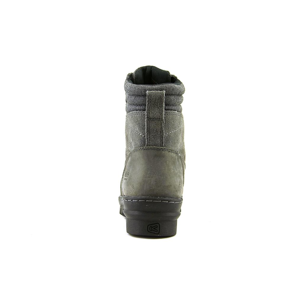 Keen Wapato Mid WP Women  Round Toe Leather Gray Winter Boot