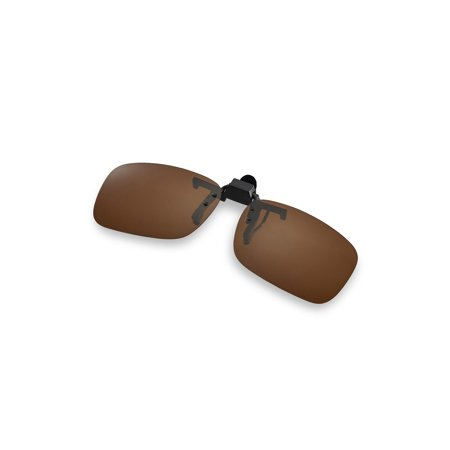 Walleva Polarized Brown Clip-on Flip-up Sunglasses Lenses