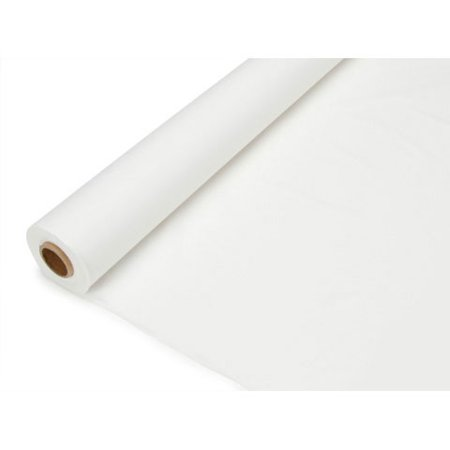 Plastic Table Cover Roll - White - 40 inches x 100 feet