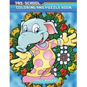Pre-School Coloring and Puzzle Book