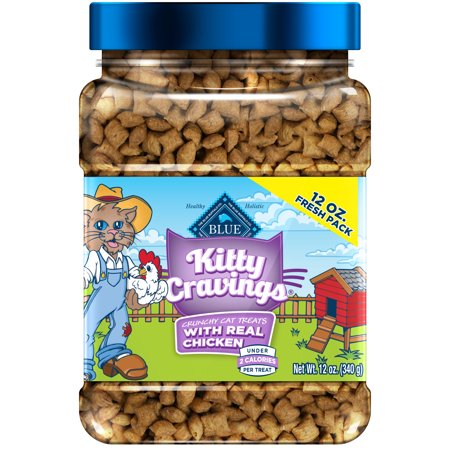 Blue Buffalo Kitty Cravings Crunchy Cat Treats, Chicken Recipe, 12-oz jar