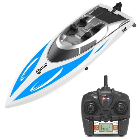 Contixo T2 RC Remote Control Racing Boat | High-Speed Pool Toy Ship (Best Remote Control Boat For Pools)