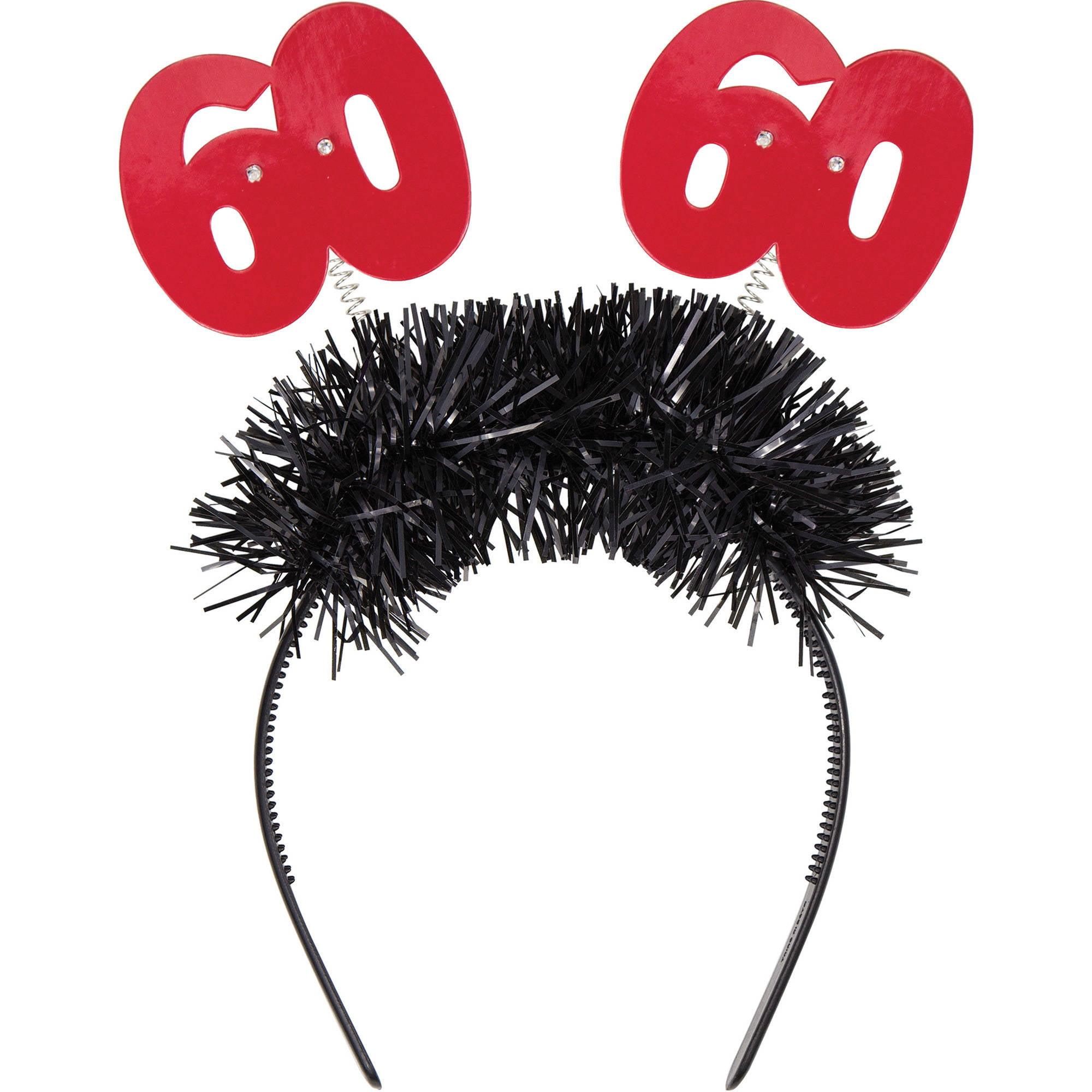 Flashing 60th Birthday Headband, 1pk