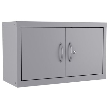 Space Solutions Huxley Wall Mount Upper Cabinet 18x30x13 in Platinum