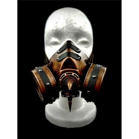 Kayso GSM007BR Steampunk Gas Mask & Adjustable Elastic Strap, Bronze