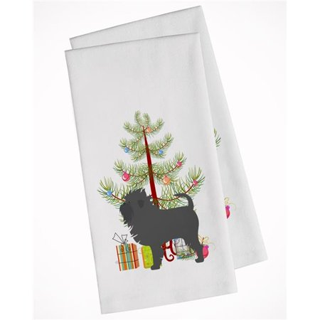 Carolines Treasures BB2966WTKT Affenpinscher Merry Christmas Tree White Kitchen Towel - Set of 2 - image 1 of 1