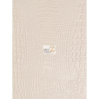 Aquaguard® Crocodile Marine Vinyl Fabric - Auto/Boat - Upholstery Fabric / Cream / Sold By The Yard