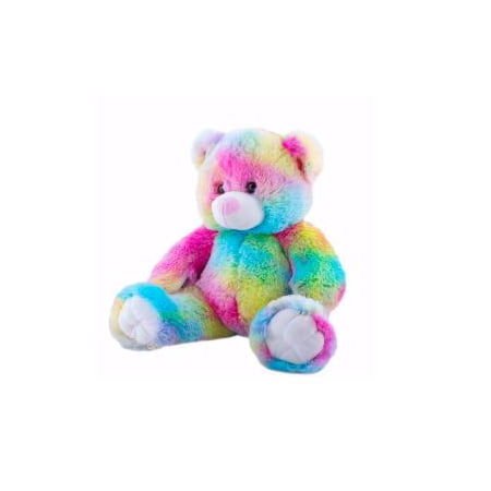 Cuddly Soft 16 inch Stuffed Rainbow Bear - We stuff 'em...you love 'em! Graduation Soft Bear