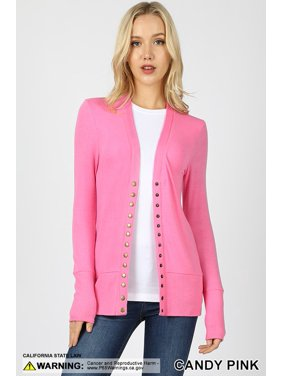 4673a713f8 Product Image Long Sleeve Snap Button Sweater Cardigan w  Ribbed Detail-2.  Zenana