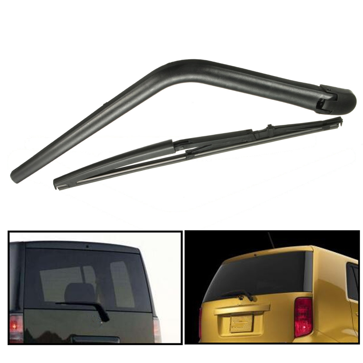 Rear Window Windscreen Windshield Wiper Blade + Arm Set For 2004-2006 Scion XB EKXB03RW MATCC US