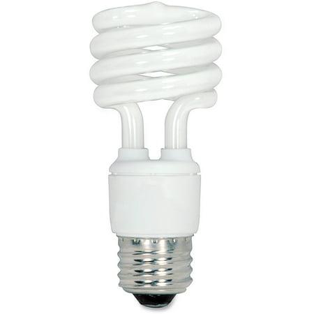 Satco, SDNS6235, 13-watt Fluorescent T2 Spiral CFL Bulb, 4 / Box ()