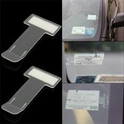 Akoyovwerve 2PCS/Pack Plastic Car Ticket Holder Parking Ticket Holder