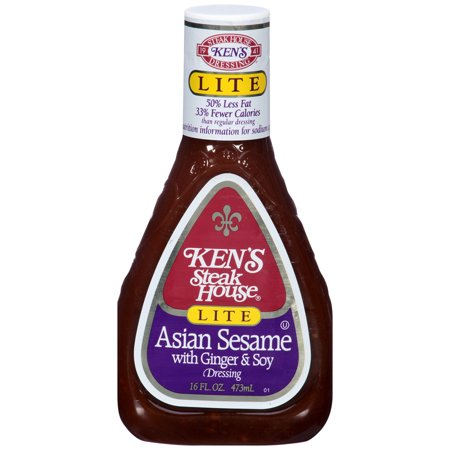 Ken's Steakhouse Lite Dressing, Asian Sesame with Ginger & Soy, 16 Fl