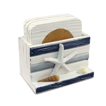 Nautical Decor - Blue Stripes Coasters